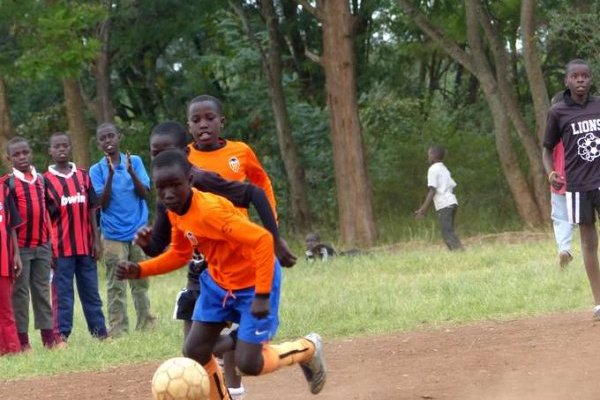 The future stars of Kibera in action